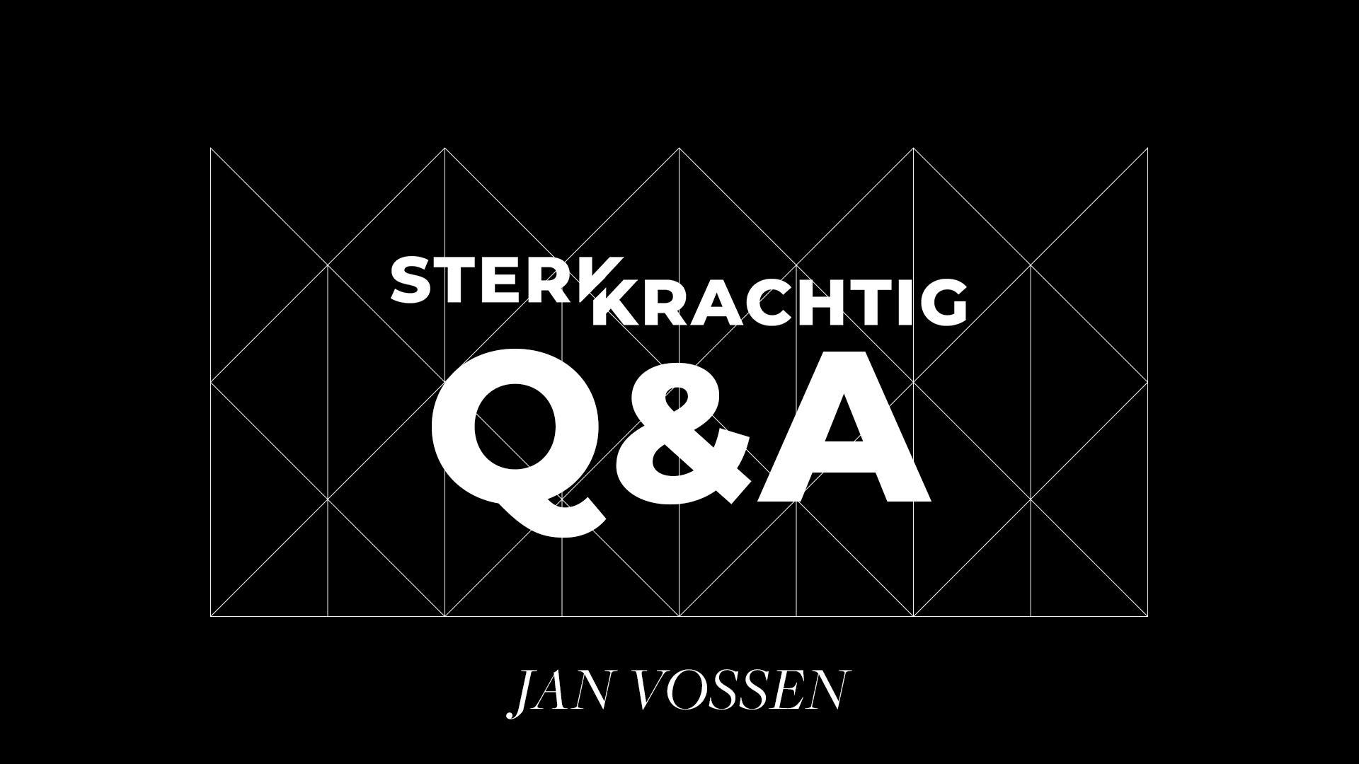 Bekijk de laatste preek van Jan Vossen over Q&A